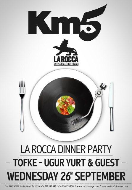 ra la rocca dinner party at km5 ibiza 2012
