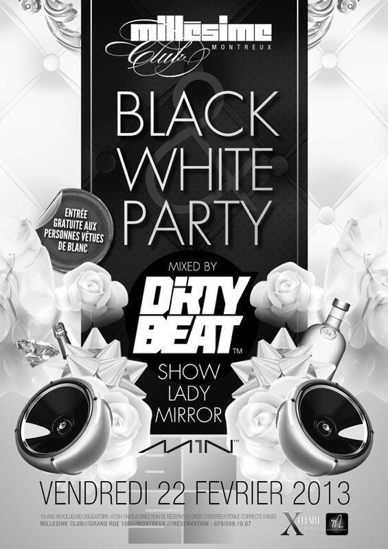 ra black white party at millesime club switzerland 2013