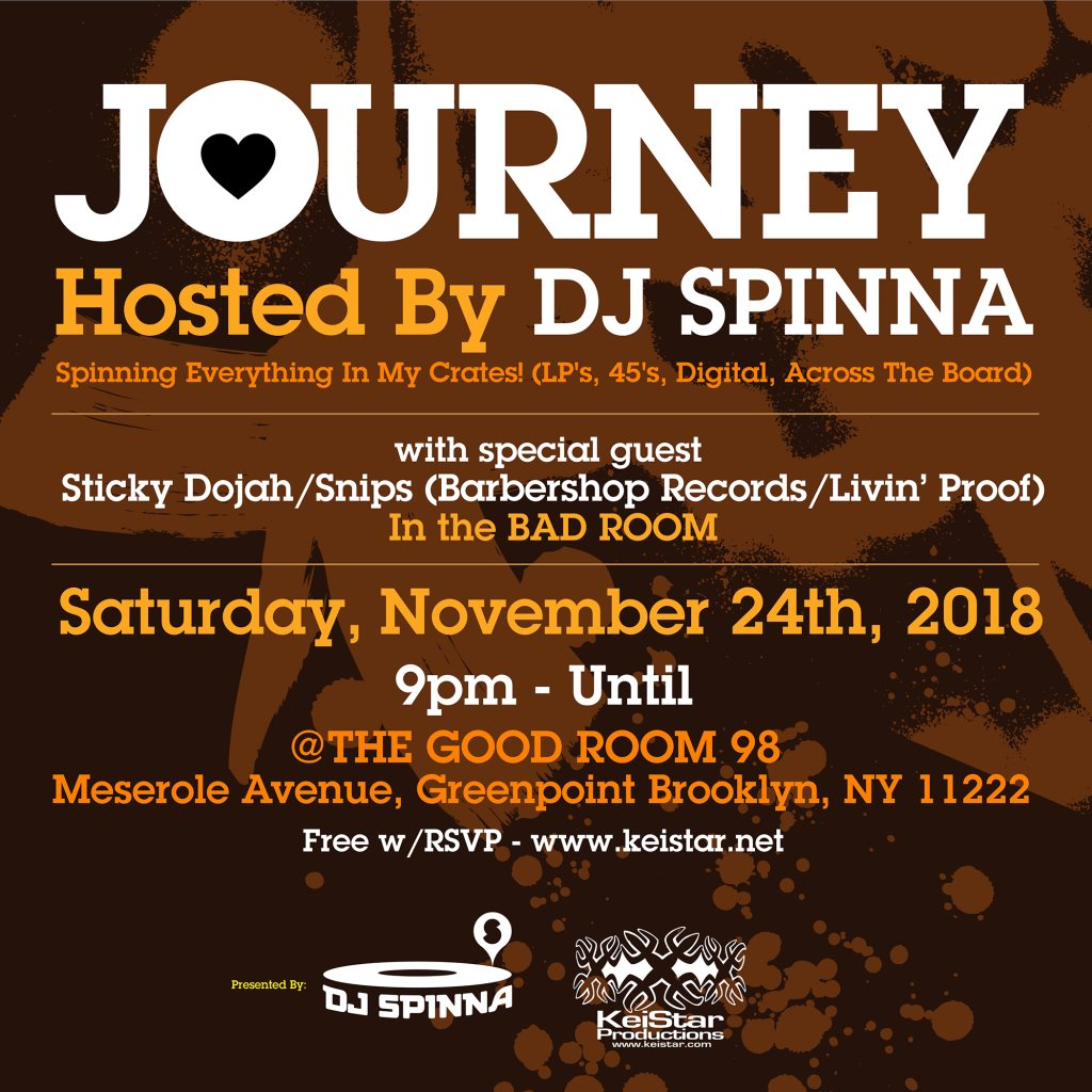 ra journey with dj spinna plus guests sticky dojah and snips at