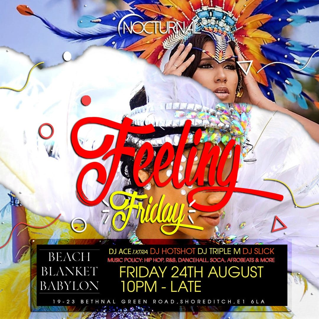 ra nocturnal feeling friday carnival warm up party at beach