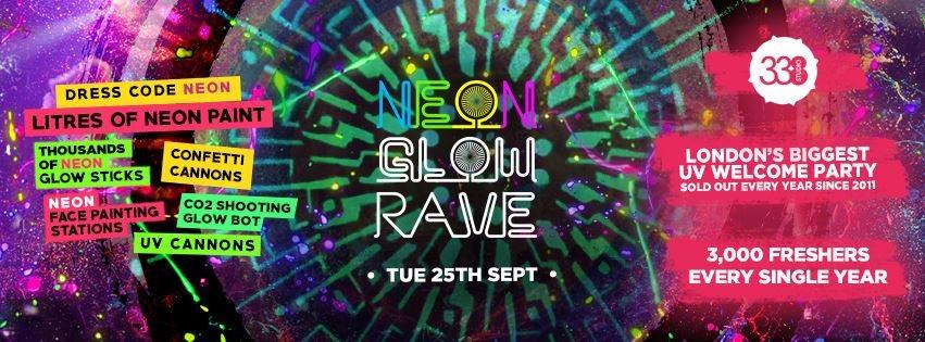 ra the 2018 freshers neon glow rave at studio 338 london