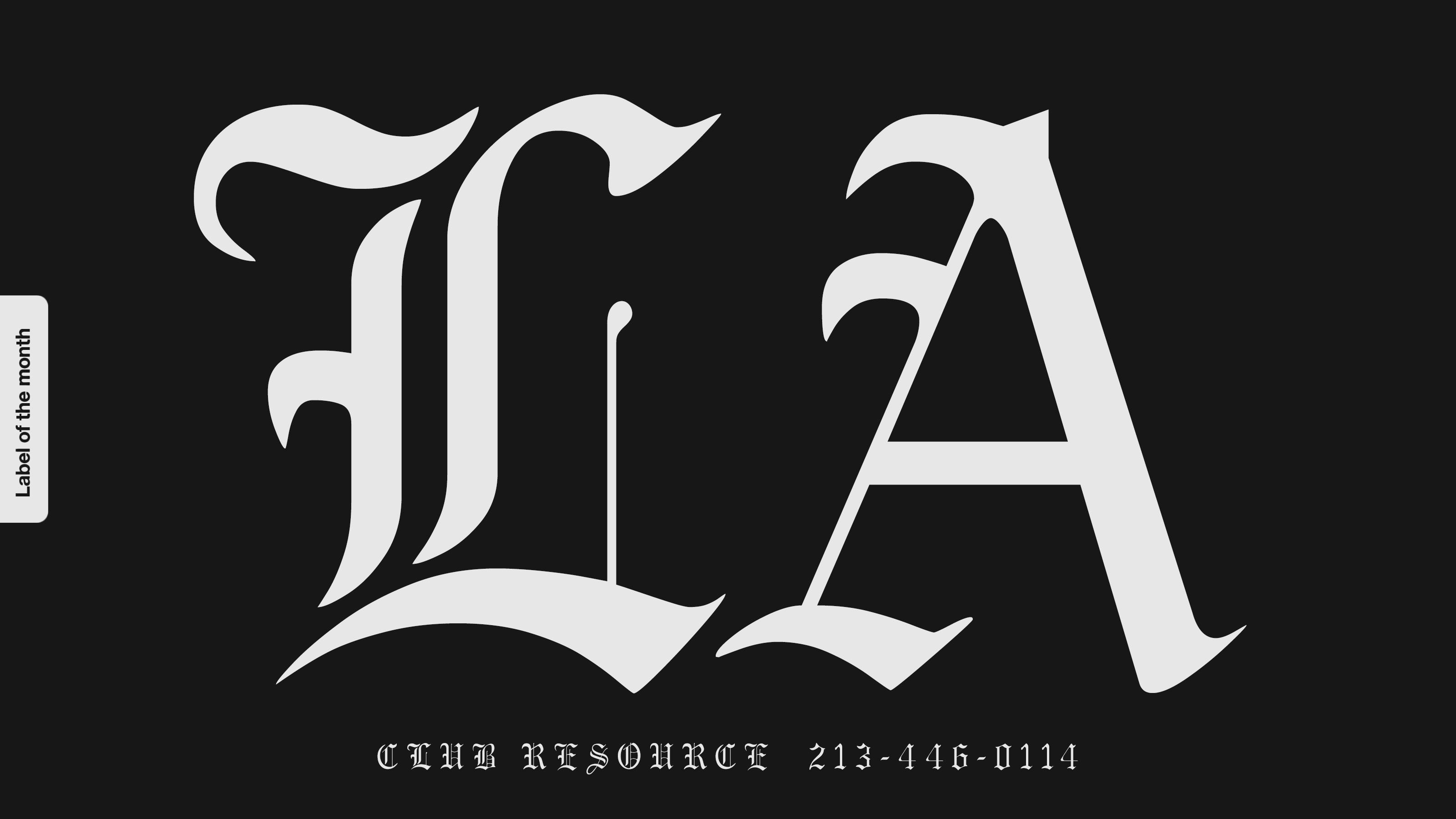 ra label of the month la club resource. Black Bedroom Furniture Sets. Home Design Ideas